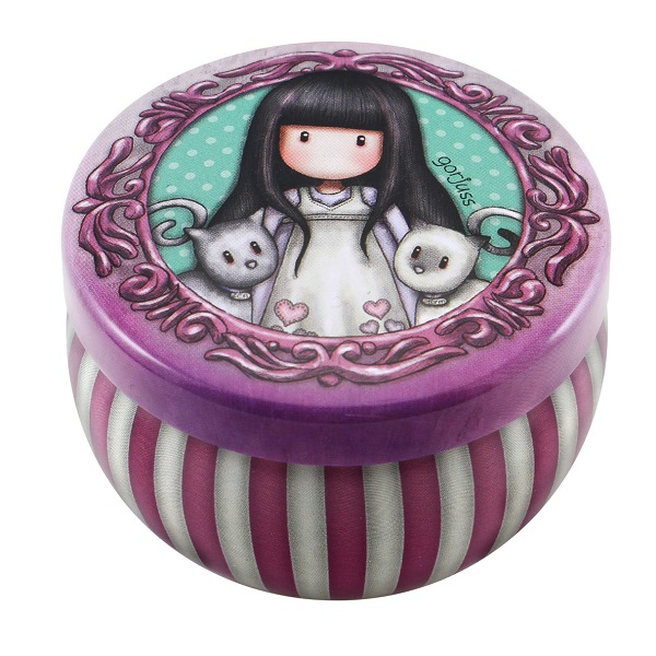 GORJUSS MINI TRINKET TIN DISPLAY TALL TAILS[898GJ02]
